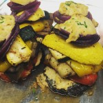 GRILLED VEGETABLE STACK WLEMON HUMMUS Vegetarian GlutenFree and LowCarb Availablehellip