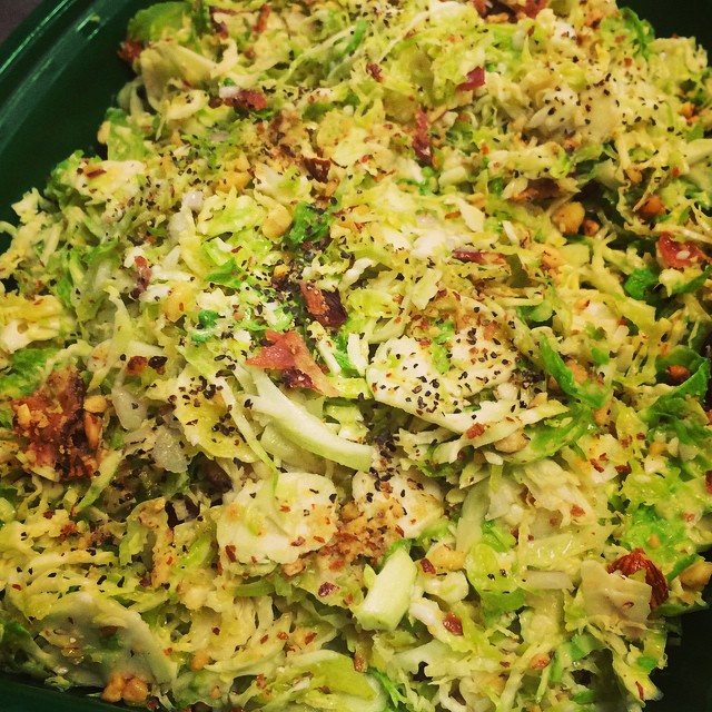 BACON + BRUSSELS SPROUTS SALAD WITH SMOKED ALMONDS:: *Available ALL WEEK in the Take Away Market