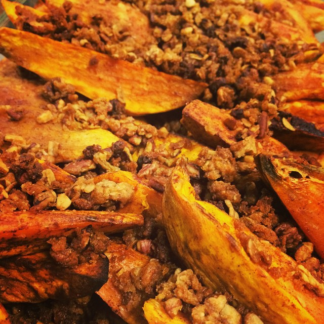 STREUSEL TOPPED, ROASTED SWEET POTATOES:: *Available NOW In The Take Away Market