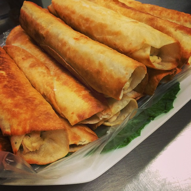 CHICKEN, SPINACH, + ARTICHOKE TAQUITOS:: *Available NOW in the Take Away Market