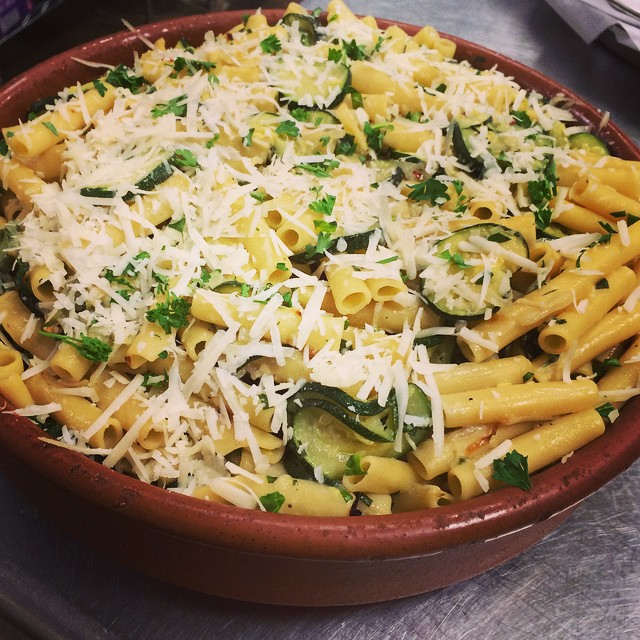 ZITI WITH LOCAL ROASTED ZUCCHINI:: *Available NOW in the Take Away Market