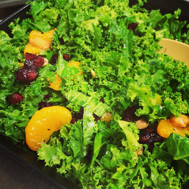KALE SALAD WITH MARCONA ALMONDS + SHERRY VINAIGRETTE:: *Available NOW in the Take Away Market