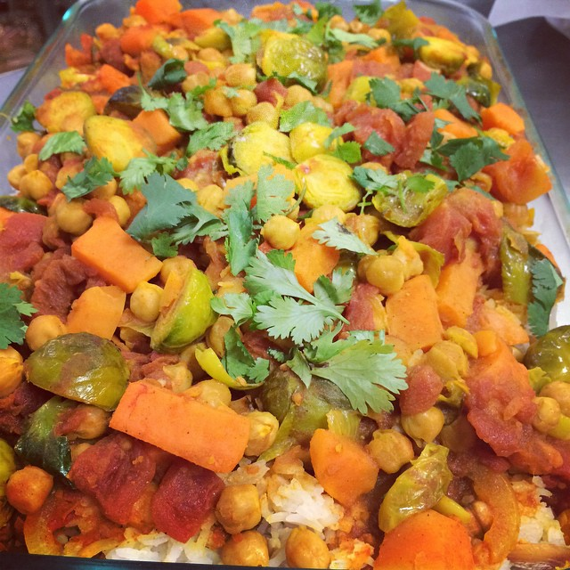 FALL VEGETABLE CURRY WITH CASHEW BASMATI RICE:: *Available NOW in the Take Away Market