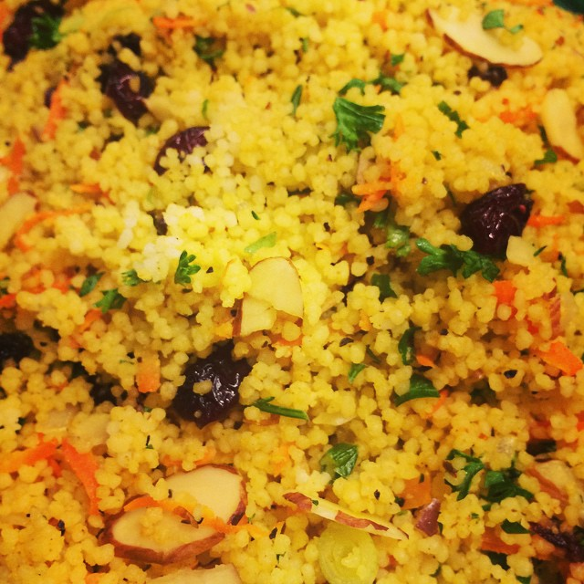 CURRIED COUSCOUS SALAD w/ CRANBERRIES + ALMONDS:: *Available NOW in the Take Away Market