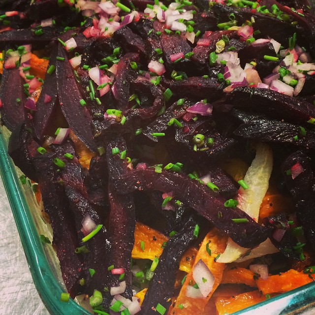 Everybody loves Cyd's  ROASTED ROOT VEGETABLES!