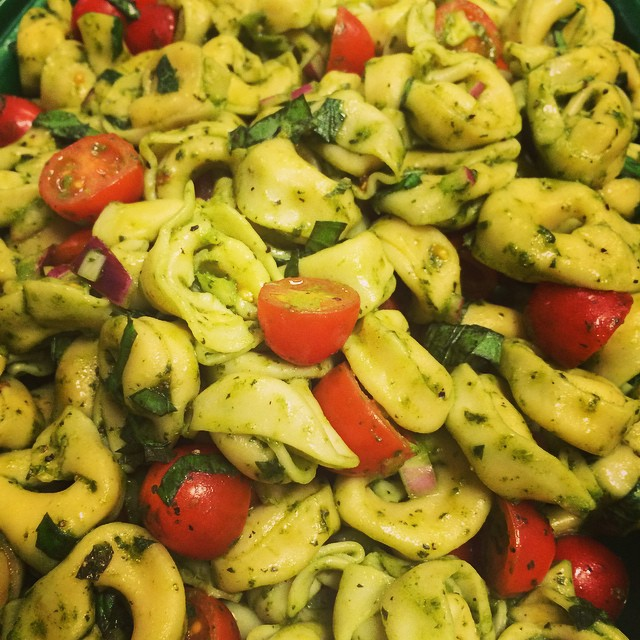 TORTELLINI SALAD w/TOMATOES + MASSES OF BASIL:: *Available ALL WEEK in the Take Away Market