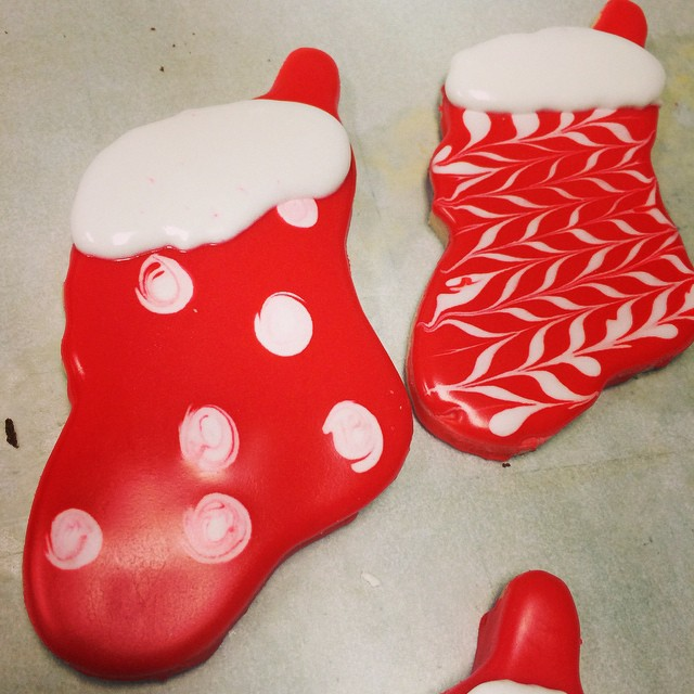ADORABLE CHRISTMAS STOCKING COOKIES:: *Available in the Bakery