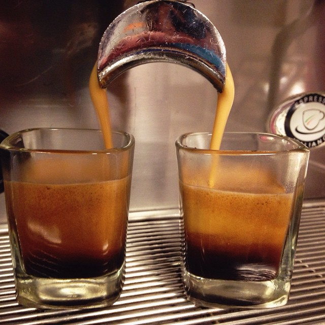 Pop on in today for a Blackcat double espresso. This espresso ,roasted at Intelligentsia, has notes of raisin, cherry, and a hint of chocolate with a clean and bright finish that's great in any drink or just on its own!
