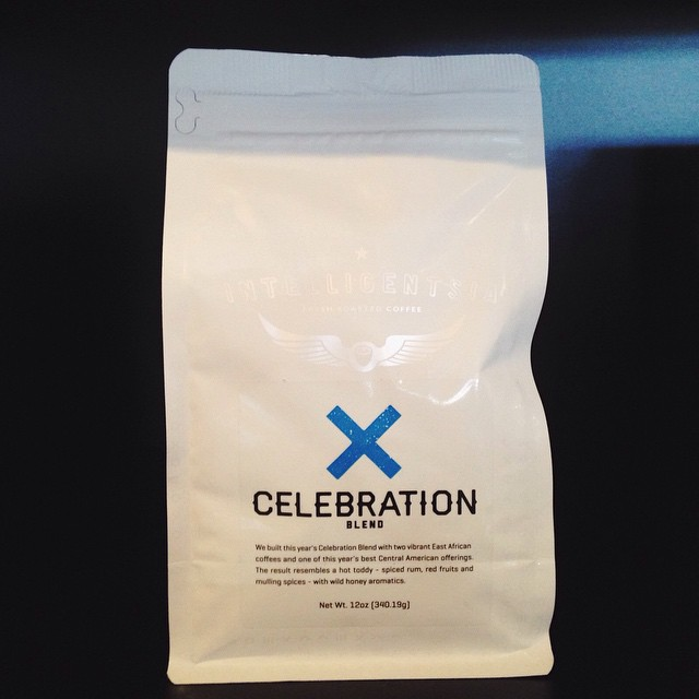 Freshly roasted Celebration from Intelligentsia is here for only a short while longer! A blend of two East African coffees, the roast has flavors of spiced rum, red fruits, and mulling spices. Made available only once a year, you won't want to miss out!