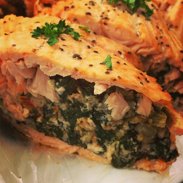 SPINACH, FETA + SUN DRIED TOMATO STUFFED SALMON:: *Available NOW in the Take Away Market
