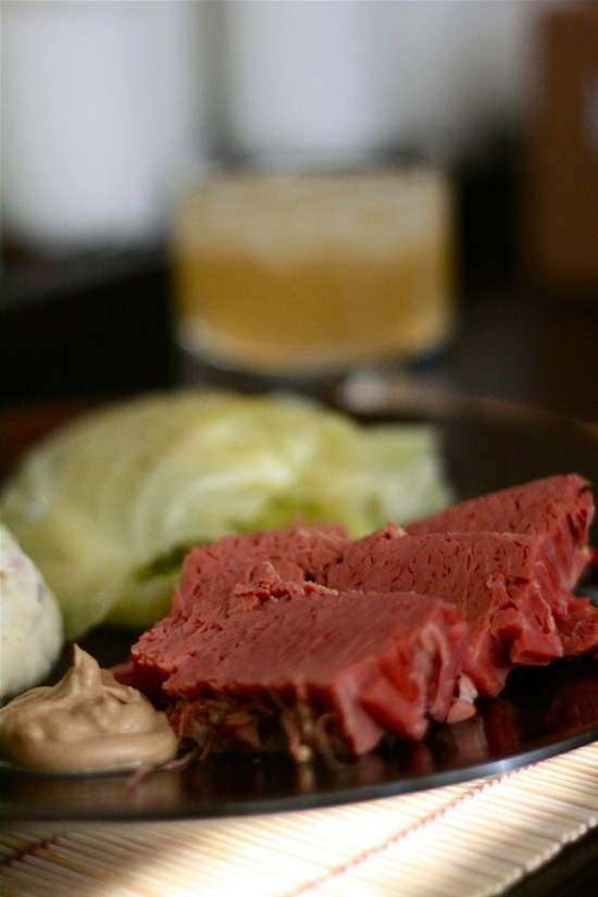 corned beef + cabbage shot